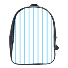 Blue Lines School Bags (xl)  by Valentinaart