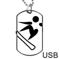Snowboarding Pictogram  Dog Tag Usb Flash (one Side) by abbeyz71