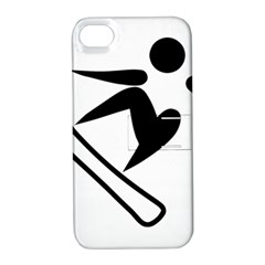 Snowboarding Pictogram  Apple Iphone 4/4s Hardshell Case With Stand by abbeyz71