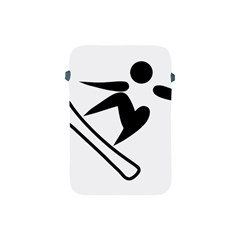 Snowboarding Pictogram  Apple Ipad Mini Protective Soft Cases by abbeyz71