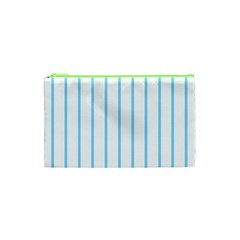 Blue Lines Cosmetic Bag (xs) by Valentinaart