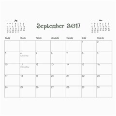 2017 Cal1 By Annie   Wall Calendar 11  X 8 5  (12 Months)   Xsmknjs9wpo2   Www Artscow Com Sep 2017