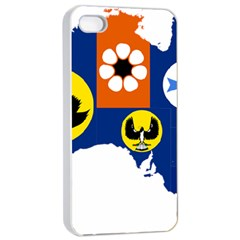 Flag Map Of States And Territories Of Australia Apple Iphone 4/4s Seamless Case (white)