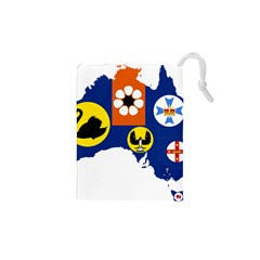 Flag Map Of States And Territories Of Australia Drawstring Pouches (xs)