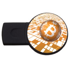 Network Bitcoin Currency Connection Usb Flash Drive Round (4 Gb)
