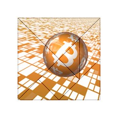 Network Bitcoin Currency Connection Acrylic Tangram Puzzle (4  x 4 )