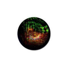 Radar Kaleidoscope Pattern Golf Ball Marker (4 Pack) by Amaryn4rt