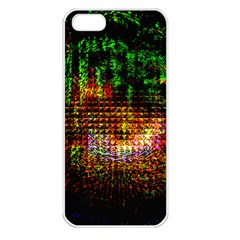 Radar Kaleidoscope Pattern Apple Iphone 5 Seamless Case (white) by Amaryn4rt