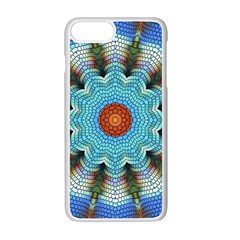 Pattern Blue Brown Background Apple Iphone 7 Plus White Seamless Case by Amaryn4rt