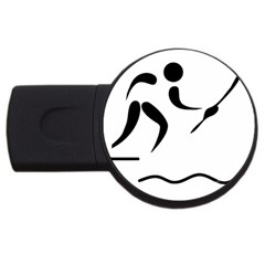 Assault Course Pictogram Usb Flash Drive Round (2 Gb) by abbeyz71