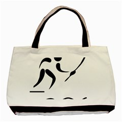 Assault Course Pictogram Basic Tote Bag by abbeyz71