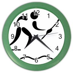 Assault Course Pictogram Color Wall Clocks by abbeyz71