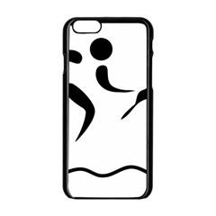 Assault Course Pictogram Apple Iphone 6/6s Black Enamel Case by abbeyz71