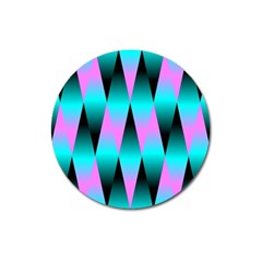 Shiny Decorative Geometric Aqua Magnet 3  (round) by Amaryn4rt
