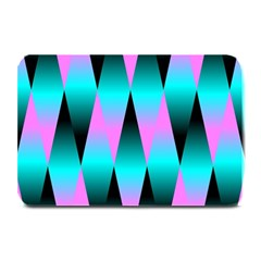 Shiny Decorative Geometric Aqua Plate Mats by Amaryn4rt
