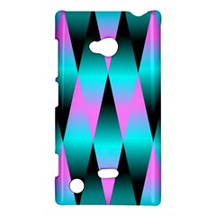 Shiny Decorative Geometric Aqua Nokia Lumia 720 by Amaryn4rt