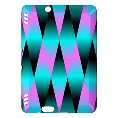 Shiny Decorative Geometric Aqua Kindle Fire Hdx Hardshell Case