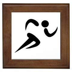 Athletics Pictogram Framed Tiles