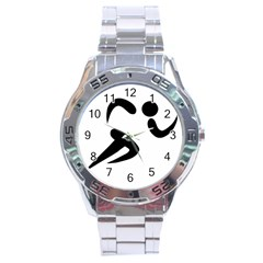 Athletics Pictogram Stainless Steel Analogue Watch by abbeyz71