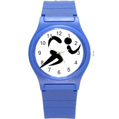 Athletics Pictogram Round Plastic Sport Watch (s) by abbeyz71