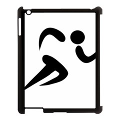 Athletics Pictogram Apple Ipad 3/4 Case (black) by abbeyz71