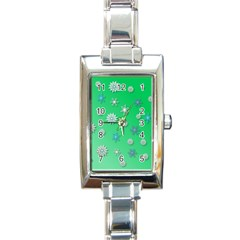 Snowflakes Winter Christmas Overlay Rectangle Italian Charm Watch by Amaryn4rt