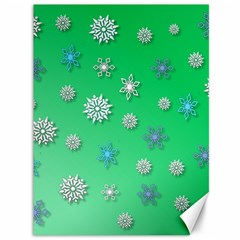Snowflakes Winter Christmas Overlay Canvas 36  X 48   by Amaryn4rt