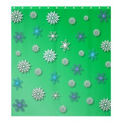 Snowflakes Winter Christmas Overlay Shower Curtain 66  X 72  (large)  by Amaryn4rt