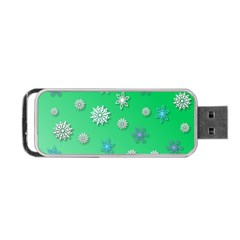 Snowflakes Winter Christmas Overlay Portable Usb Flash (two Sides) by Amaryn4rt