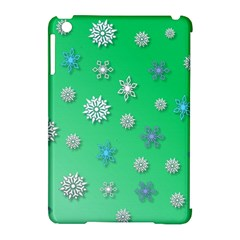 Snowflakes Winter Christmas Overlay Apple Ipad Mini Hardshell Case (compatible With Smart Cover) by Amaryn4rt