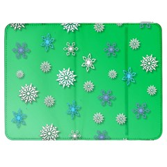 Snowflakes Winter Christmas Overlay Samsung Galaxy Tab 7  P1000 Flip Case by Amaryn4rt