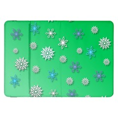 Snowflakes Winter Christmas Overlay Samsung Galaxy Tab 8 9  P7300 Flip Case by Amaryn4rt