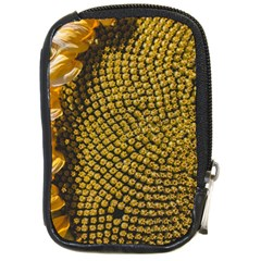 Sunflower Bright Close Up Color Disk Florets Compact Camera Cases by Amaryn4rt