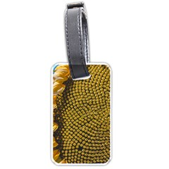 Sunflower Bright Close Up Color Disk Florets Luggage Tags (two Sides) by Amaryn4rt