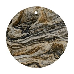Rock Texture Background Stone Ornament (round) by Amaryn4rt