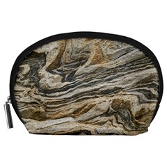 Rock Texture Background Stone Accessory Pouches (large)  by Amaryn4rt
