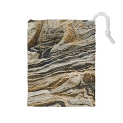Rock Texture Background Stone Drawstring Pouches (large)