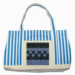 Texture Structure Surface Basket Striped Blue Tote Bag by Amaryn4rt