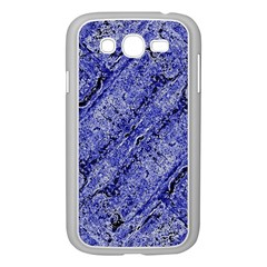 Texture Blue Neon Brick Diagonal Samsung Galaxy Grand Duos I9082 Case (white) by Amaryn4rt