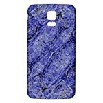 Texture Blue Neon Brick Diagonal Samsung Galaxy S5 Back Case (White) Front