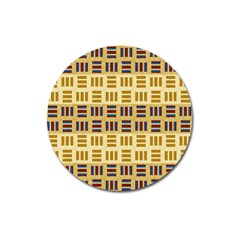 Textile Texture Fabric Material Magnet 3  (round) by Amaryn4rt
