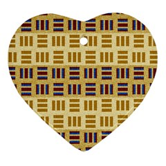 Textile Texture Fabric Material Heart Ornament (two Sides) by Amaryn4rt