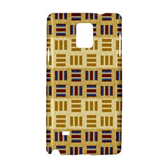 Textile Texture Fabric Material Samsung Galaxy Note 4 Hardshell Case by Amaryn4rt