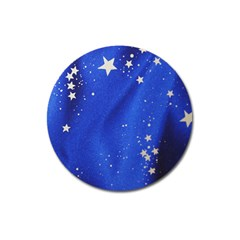 The Substance Blue Fabric Stars Magnet 3  (round) by Amaryn4rt