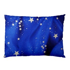 The Substance Blue Fabric Stars Pillow Case by Amaryn4rt