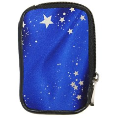 The Substance Blue Fabric Stars Compact Camera Cases by Amaryn4rt