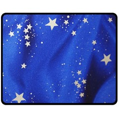 The Substance Blue Fabric Stars Fleece Blanket (medium)  by Amaryn4rt
