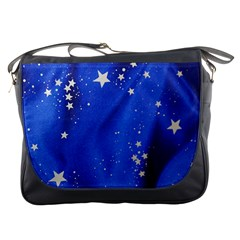 The Substance Blue Fabric Stars Messenger Bags by Amaryn4rt