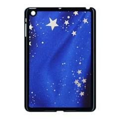 The Substance Blue Fabric Stars Apple Ipad Mini Case (black) by Amaryn4rt