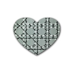 Texture Backgrounds Pictures Detail Heart Coaster (4 Pack)  by Amaryn4rt